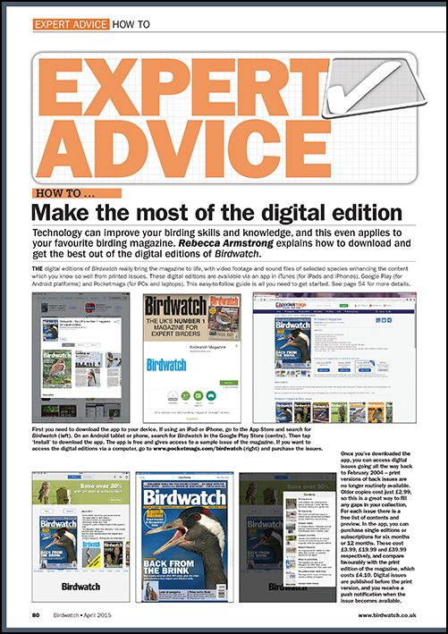 How to ... Make the most of Birdwatch's digital edition.