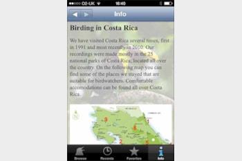 BirdSounds Costa Rica app