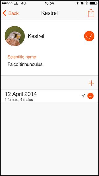 Bird Tick List app 2