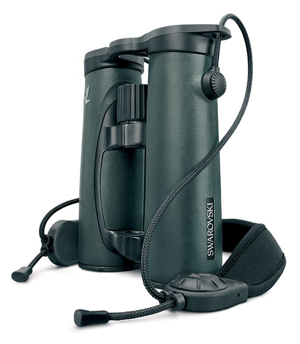 Swarovski's EL range of binoculars now benefits from some well-designed accessories like this neckstrap.