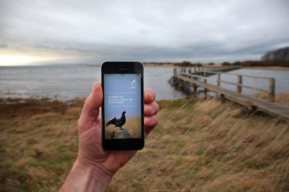 Where to Watch Birds in Scotland app - BirdGuides