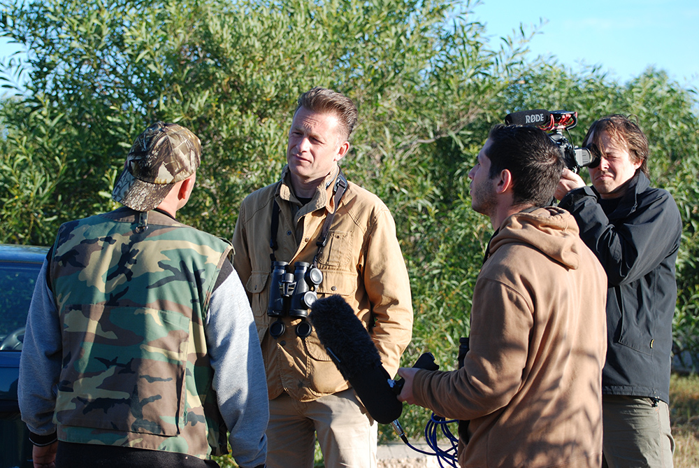 Chris Packham (seen here confronting hunters on Malta) has twice won Conservation Hero of the Year (2014 and 2015).
