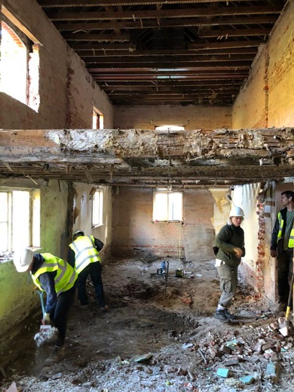 Work is underway on Cameron's Cottage