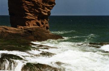 Arbroath Coastline...The Devils Head.