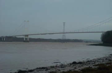 The Old Severn Crossing from Beachley.