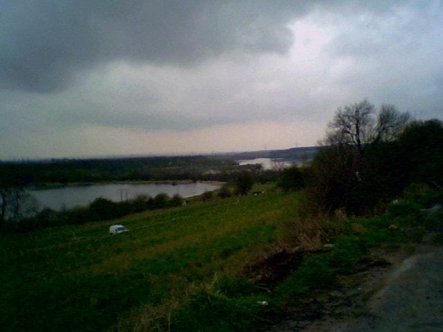 View from Fairburn village, looking west.
