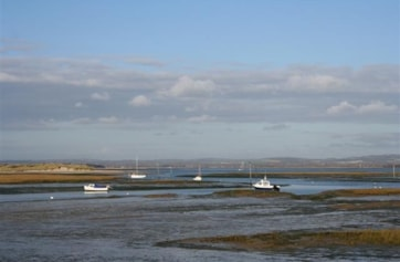 Viewed from the southeast corner of Chichester Harbour.