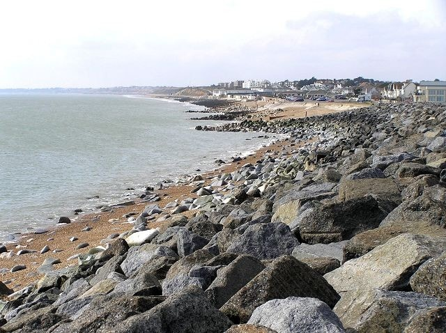 Looking west to Christchurch Bay.