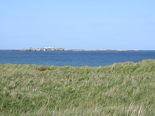 From the mainland north of Seahouses