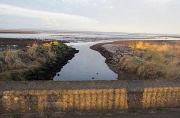 Slaphouse Burn, looking towards River Doon and Clyde Estuary