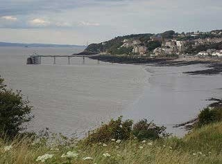 View of Clevedon Pier from Wain's Hill