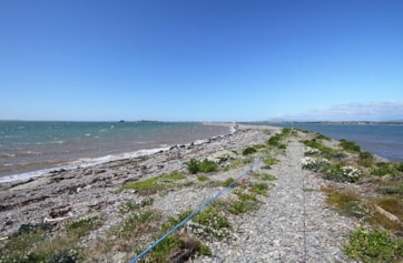 Looking back to Roa Island from Foulney Island.