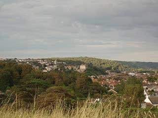 View over Clevedon from Wain's Hill