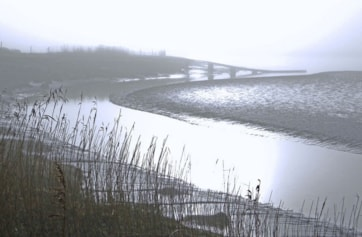 The River Wampool at Anthorn on a misty December morning.