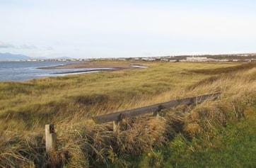 The beach towards Stevenston Point.