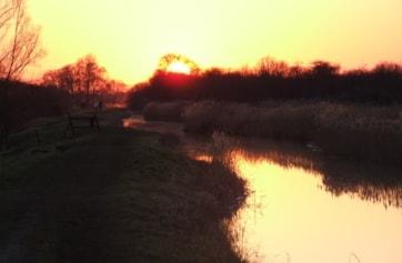 Wicken Lode at dusk, Wicken Fen NT.