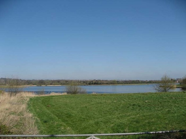 A52 Pit from the gate just east of Gamston roundabout on a sunny spring day.