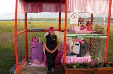 Haroldswick Bus Shelter, Unst.