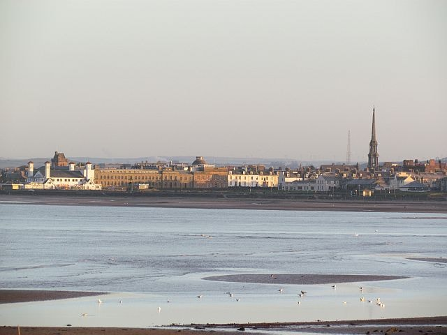 Ayr beach and seafront.