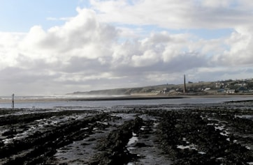 Spittal and mouth of the Tweed from Berwick pier.