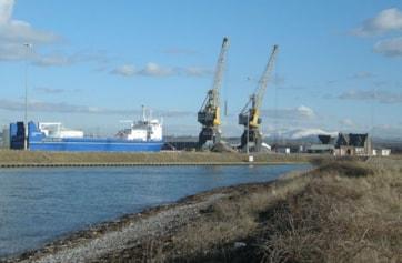 Workington Docks from near the marina.