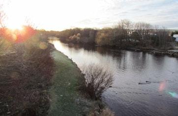 River Doon looking inland