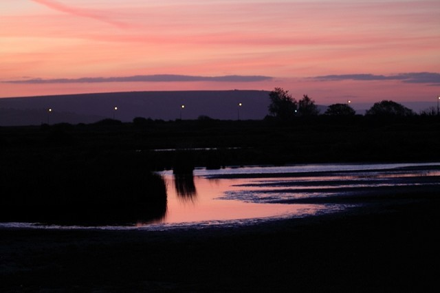 Sunrise at Lodmoor.