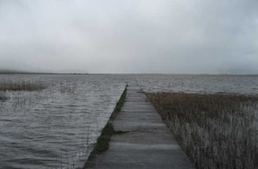 The pier at the east end of Lough Gill.