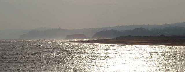 Dawlish Warren, Langstone Rock and The Parson and Clerk, Holcombe, from Exmouth