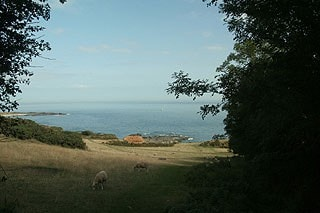 View from the National Trust car park at Prawle Point.
