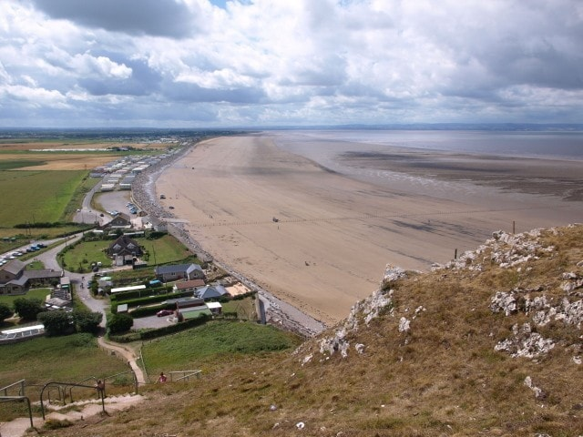 Berrow Flats and beach from Brean Down.