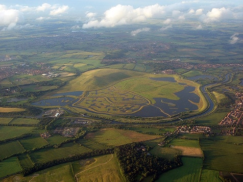 St. Aidan's RSPB from the air.