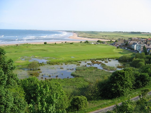 A view south across the River Aln at Alnmouth.