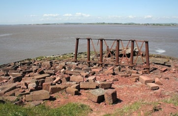 The Solway Firth from the end of the Old Viaduct.