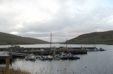 The harbour at Voe.