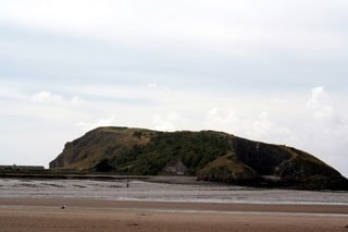 Brean Down from Uphill beach