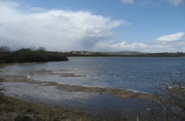 Ballyallia Lake from the car park/picnic site on the eastern side.