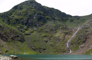 Snowdon from the Miners Track. Taken at Glaslyn at 605m.