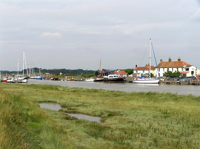 Southwold Harbour and river Blyth.