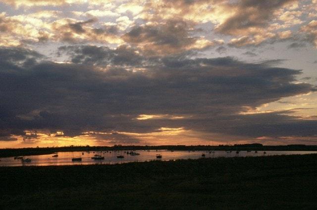 River Alde at dusk from Slaughden, Aldeburgh