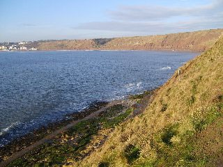Filey Bay viewed from the Brigg.