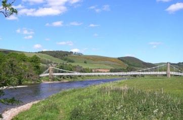 Suspension Bridge over the Tweed at Melrose.