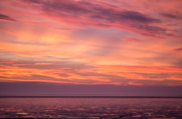 Unexpected sunset after a dreary grey day. Snettisham always surprises.