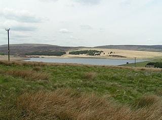 Gorple Lower Reservoir from the southeast.
