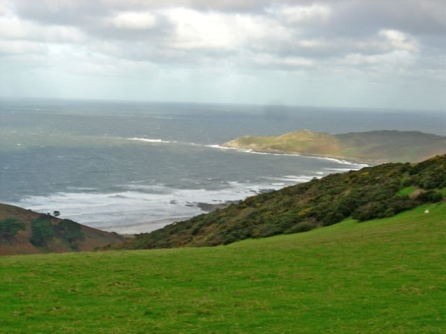 Woolacombe Bay with Morte Point in background.