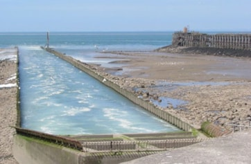 Number 2 outfall at Heysham Power Station.