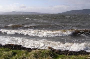 Alturlie Bay in turbulence