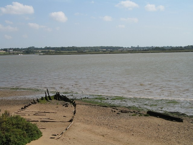 Looking over the River Colne estuary from Fingringhoe EWT Reserve