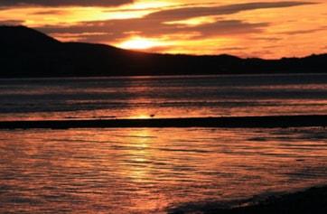 The Wig, Loch Ryan at sunrise.