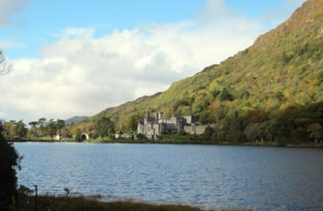 Kylemore Abbey, at the east end of the lough.